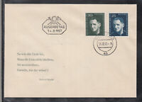 Germany GDR nice FDC from 1957 Bertold Brecht