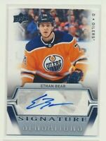2019-20 Upper Deck Series 1 Signature Sensations AUTO SS-EB Ethan Bear Oilers