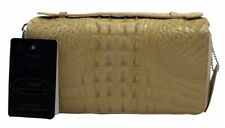 Authentic M Crocodile Skin Womens Tail Clutch Long Purse Strap Zippers Wallet