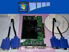 Matrox G450 128MB MMS Quad VGA Desktop Windows7 PCI Video Card + Driver & Cables