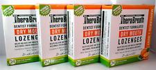 TheraBreath Lozenges MANDARIN + MINT Sugar Free Dry Mouth 24 ea (Lot of 4)