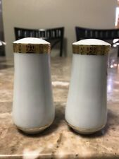 "VINTAGE ROYAL GALLERY GOLD 1991 MACYS SALT AND PEPPER SHAKERS 3-1/2"" PAIR"