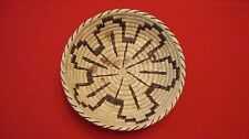 Vtg PAPAGO Indian Woven Grass Cactus Bowl Basket w/ original paperwork