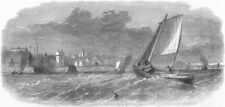 DYSART. White-fish fisheries. Fishing-boats, antique print, 1862