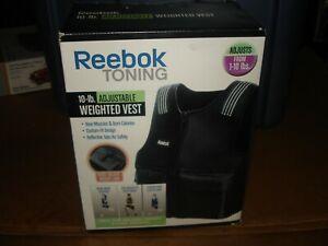 Reebok 1-10 Pound Adjustable Weighted Vest Strength Training toning NEW bin 916