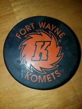 International Hockey League Fort Wayne Komets Domino's Hockey Puck Vintage