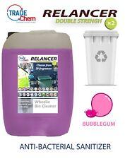 Wheelie Bin Cleaner 25L Relancer Anti-Bacterial DOUBLE STRENGTH BUBBLEGUM