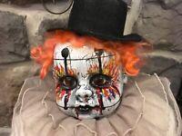 Creepy doll, clown, horror, evil, OOAK, Halloween prop