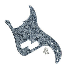 New 4Ply Grey Pearl 4 String Precision Style Bass Pickguard 13 Holes & Screws