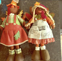 Thanksgiving Standing Turkey Couple Decorations, Tabletop Turkey Decor for Fall