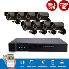 8CH 5in1 1080N DVR Outdoor Waterproof IR-CUT P2P Camera Home Security System NEW