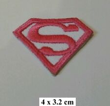 Super Girl Superman Pink Shield Logo ,EMBROIDERED Iron on/Sew on PATCH