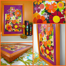 VTG 1960s Retro Groovy Flower Power Psychedelic MOD Hippie Painting Wall Art