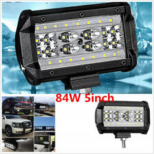 1PCS 5inch 84w LED Work Driving Light Bar Spot Flood OFFROAD 4WD Truck 8400lm