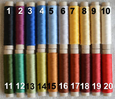 Silk Thread 100% Genuine British Silk - 100 Meters Spool - Natural Silk Yarn