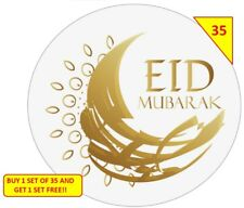 70 Eid Mubarak Labels Stickers Gift sweet Cone Bags NON PERSONALISED
