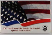 2010 U.S Mint Silver Quarters Proof Set -5 Coins w COA  #A-809