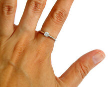 Women's .29 ct Solitaire Diamond Ring Appraisal Included in 14k Solid Gold