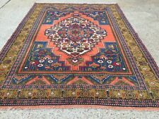 Turkish Vintage Prayer Rug vegetable dye 228x166cm Persian Afghan Tribal boho