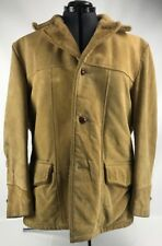 SEARS THE LEATHER SHOP Men's Vintage Suede Leather Jacket Coat Size 46 Regular