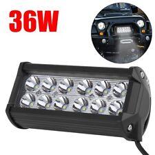 Universal 36W 12 LEDs Car Work Light Lamp Bulbs Bar Spotlight 2520LM Spot Beam A
