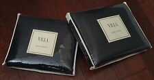 Noble Excellence Villa 2pc Vintage KING Belgian Linen SHAMS Pair NAVY NWT