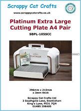 PLATINUM EXTRA LARGE A4 piastre di taglio, Coppia di Scrappy Cat: SPA43P