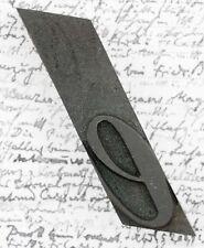 letter e  fancy wood type printing block woodtype font letterpress old vintage