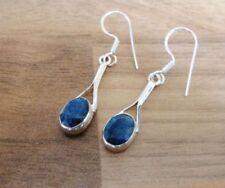 Handmade Drop/Dangle Sapphire Fine Earrings