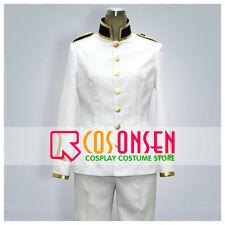 Cosonsen APH Axis Powers Hetalia Japan Honda Kiku White Uniform Cosplay Costume