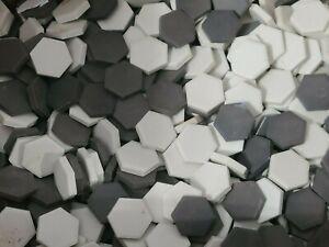 Reproduction Antique Hexagonal Black or White Ceramic Bathroom Tile Replacement