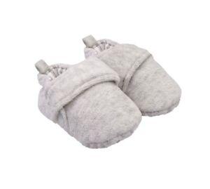 Carter's Heathered Gray Velvet Mocassin Crib Shoes. 0-3 Months. Nwot. $19