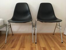 2x Hermann Miller by Vitra Eames DSS Gestell inkl Noname Schale Plastic Chair
