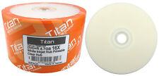 100 TITAN 16X DVD+R White Inkjet HUB Printable Disc FREE EXPEDITED SHIPPING
