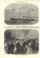 1866 New Steam Yacht Jerome Napoleon Rouge Et Noir Heligoland