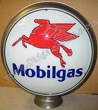 """MOBILGAS GASOLINE 15"""" MOBIL OIL GAS PUMP GLOBE FREE SH"""