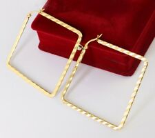Pair Surgical Stainless Steel Square Hoop Earring Women Gold Fashion Jewelry