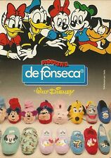 X2334 Moppine DE FONSECA - Walt Disney - Pubblicità 1988 - Advertising
