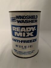FULL NOS VINTAGE Metal SILOO Ready Mix Windshield Washer Fluid Anti Freeze Can
