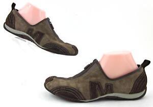 Merrell Womens Barrado Slip On Athleisure Shoes Mocha Suede Leather Sz 10