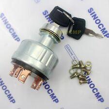 2pcs Hitachi Excavator Ex200-1 Key Starter Ignition Switch With 6 Pins