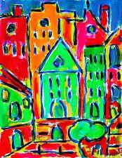 URBANISME   ABSTRACT MODERN ART PAINTING ACRYLIC