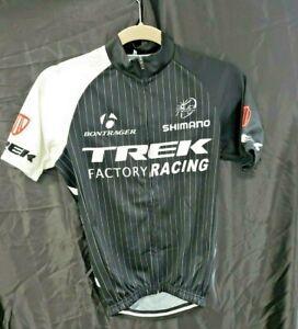 Trek Factory Racing Cycling Jersey Size S Bontrager Black & White Full Zip