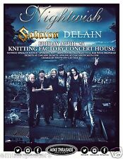 NIGHTWISH / SABATON / DELAIN 2015 SPOKANE CONCERT TOUR POSTER - Symphonic Metal
