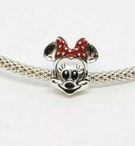 Silver Minnie Mouse Charm Fits Brand Name & All European Style Charm Bracelets