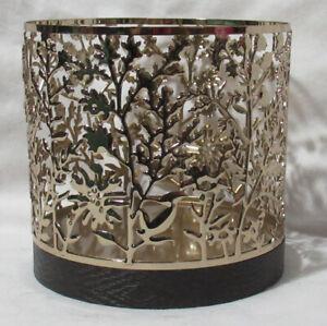 Bath & Body Works 3-Wick 14.5 oz Candle Sleeve Holder silver gold bronze u pick