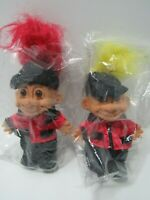 Troll Doll  Russ Equestrian Jockey Yellow Red Hair Horse Riding Vintage New