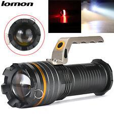 LOMON 10000LM CREE T6 LED Outdoor Light Searchlight Flashlight Lamp & 3x Battery