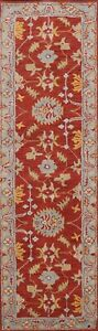 """Floral Traditional Oriental Hand-Tufted Runner Rug RED Wool Carpet 2' 7""""x9' 10"""""""