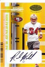 rasheed marshall rc rookie draft auto autograph 49ers west virginia wvu #/15 05